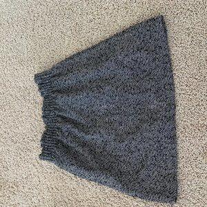 Wool-blend sidewalk skirt